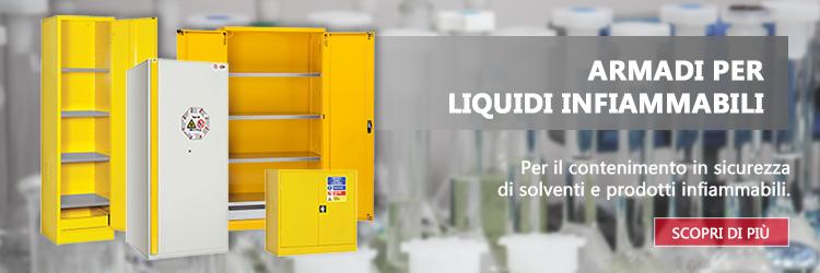 Armadi per liquidi infiammabili, vernici e solventi