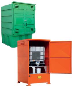Depositi di stoccaggio e armadi da esterno per cisterne