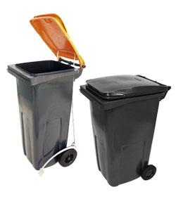 Bidoni raccolta differenziata, spazzatura e immondizia