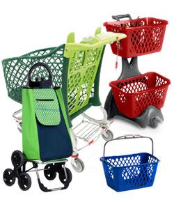 Carrelli spesa e cestini spesa