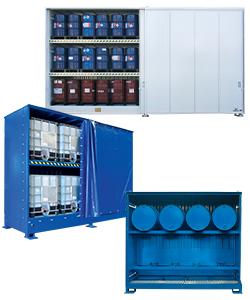 Container stoccaggio per fusti, cisterne e contenitori di sostanze pericolose