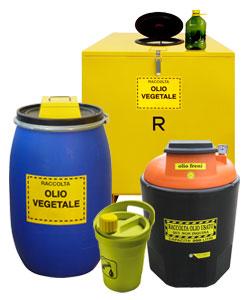 Contenitori raccolta olio esausto