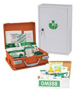 Kit pronto soccorso, valigette, cassette e armadietti DM 388 e DL 81