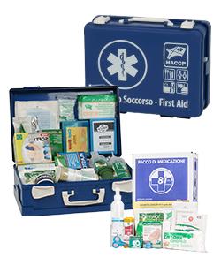 Kit pronto soccorso, valigette, cassette e armadietti HACCP per ristorazione