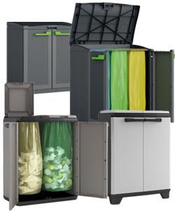 Mobiletti raccolta differenziata in plastica resina