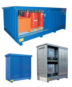 Modulcontainer per fusti, cisterne e contenitori di sostanze pericolose