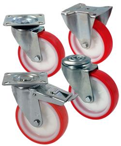 Ruote per carrelli in nylon poliuretano
