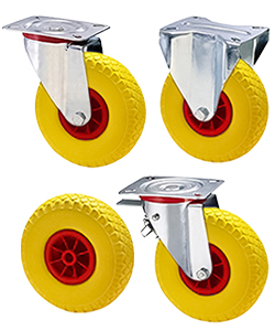 Ruote piene per carrelli in gomma antitraccia