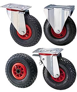 Ruote pneumatiche per carrelli