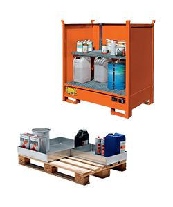Vasche di contenimento liquidi per piccoli contenitori