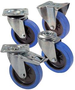Ruote per carrelli in gomma elastica