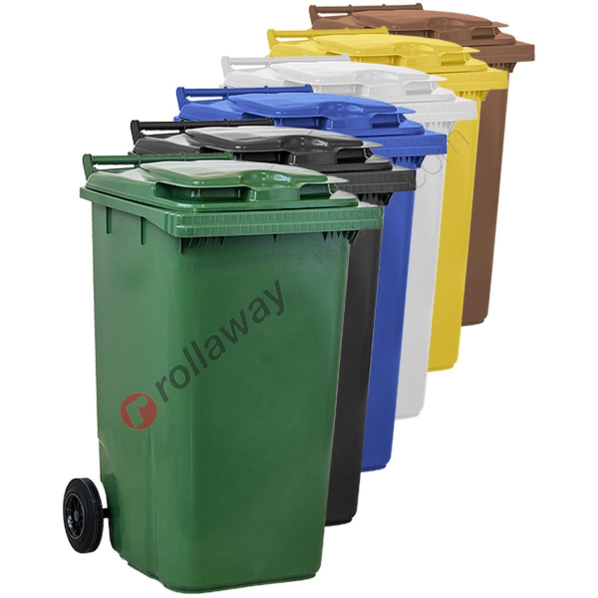 Cestini Raccolta Differenziata Casa bidoni raccolta differenziata spazzatura e immondizia da 240 litri con 2  ruote