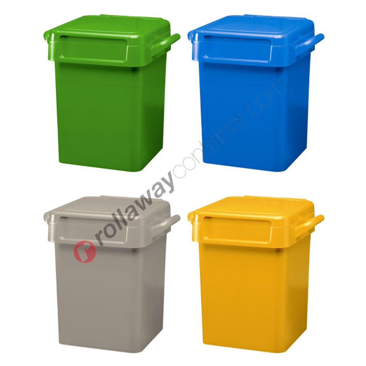 Box Per Bidoni Spazzatura bidoni spazzatura differenziata da 50 litri con maniglie per svuotamento  manuale