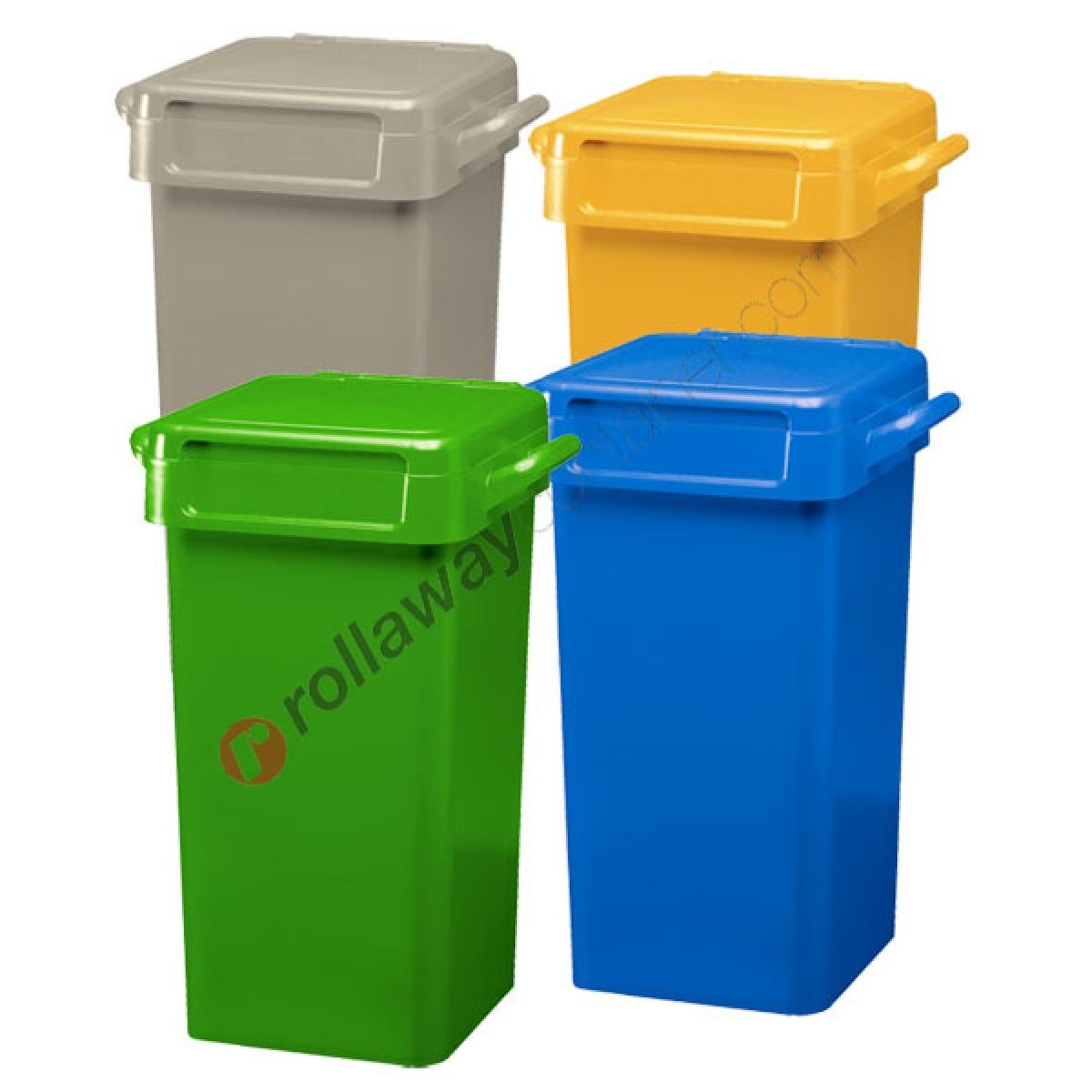 Box Per Bidoni Spazzatura bidoni spazzatura differenziata da 70 litri con maniglie per svuotamento  manuale