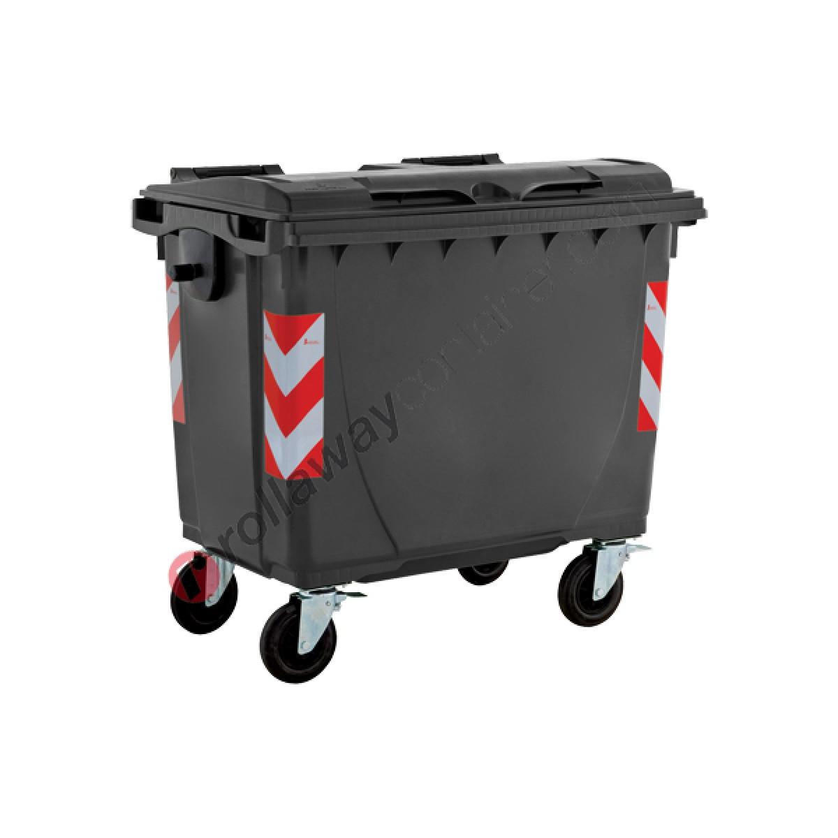 Box Per Bidoni Spazzatura cassonetti raccolta differenziata spazzatura, rifiuti e immondizia da 660  litri con 4 ruote
