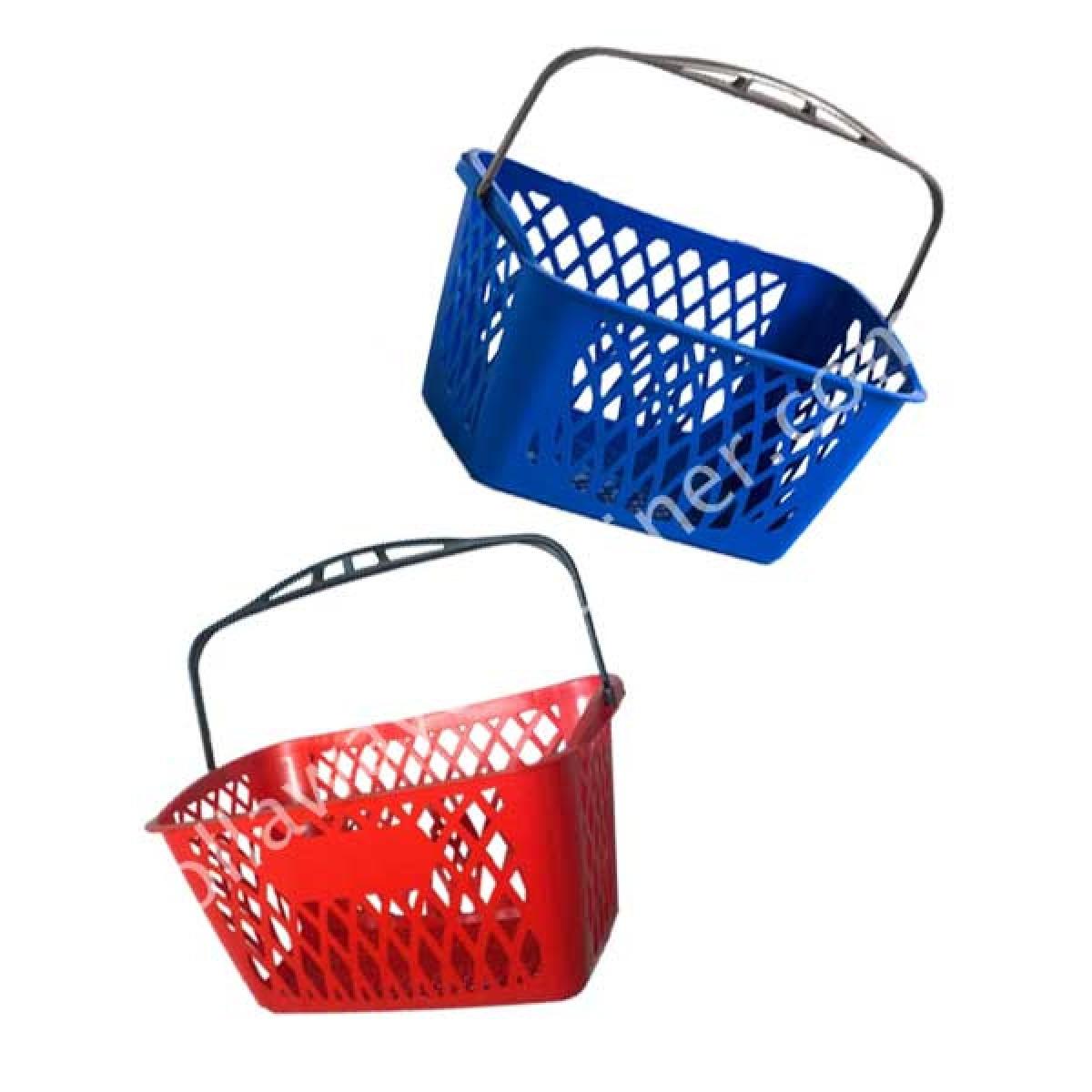 Cestino spesa in plastica con manico 33 litri per supermercato for Plastica riciclata prezzo