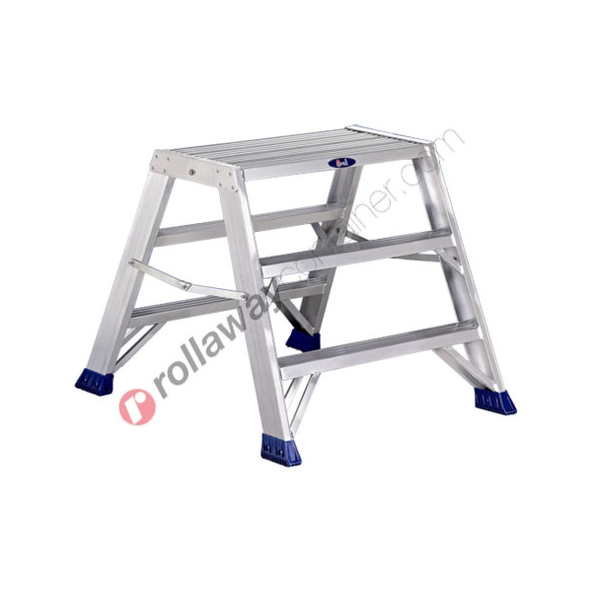 Sgabelli Pieghevoli Alluminio.Sgabello Alluminio Pieghevole Professionale Doppio Punto
