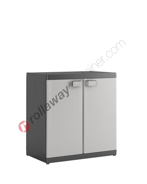 Armadietto in plastica cm 89 x 54 x 93 grigio e nero