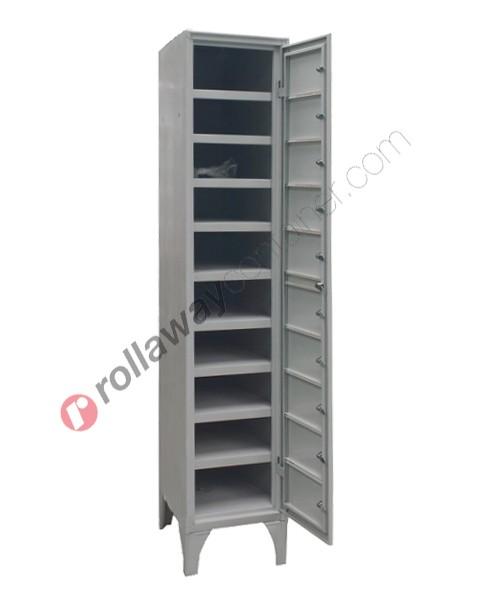 Armadio casellario ispezionabile in metallo 10 ante con serratura