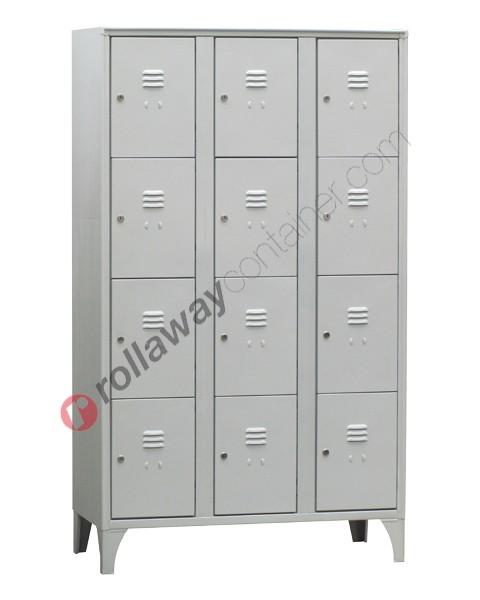 Armadio casellario in metallo 12 ante con serratura