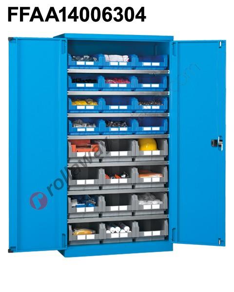 Armadio officina industriale 1023x555 H 2000 con ripiani e contenitori