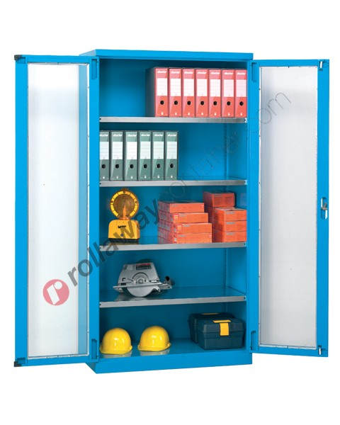 Armadio officina industriale 1023x400 H 2000 2 ante in policarbonato