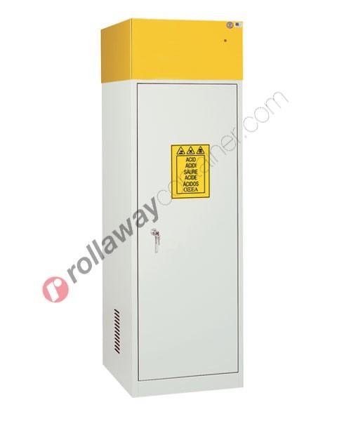 Armadio per prodotti chimici non infiammabili con anta cieca e aspiratore 600 x 600 H 1900 mm Top Line