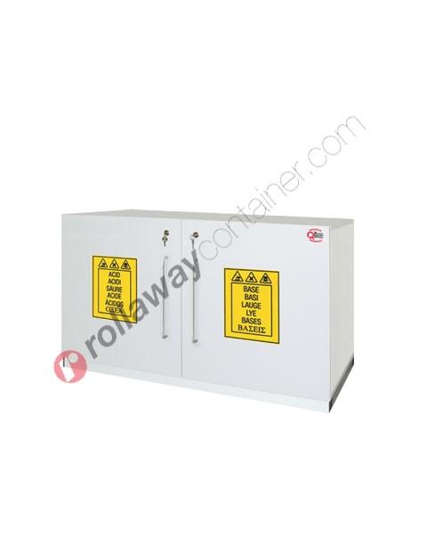 Armadio per prodotti chimici non infiammabili idrofugo con 2 ante cieche 1120 x 500 H 700 mm