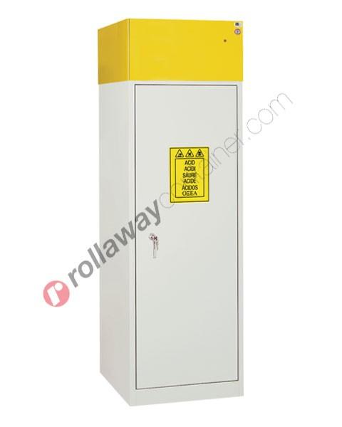 Armadio per prodotti chimici non infiammabili idrofugo con anta cieca e aspiratore 600 x 600 H 1900 mm