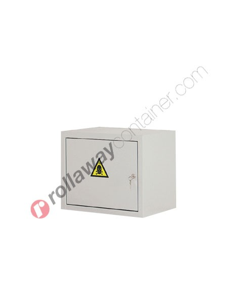 Armadio per prodotti chimici non infiammabili e veleni con anta cieca 500 x 300 H 400 mm