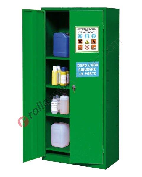 Armadio per fitofarmaci, fitosanitari e pesticidi 730 x 400 H 1600 mm