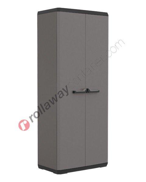 Armadio in plastica cm 68 x 39 x 166 grigio e nero