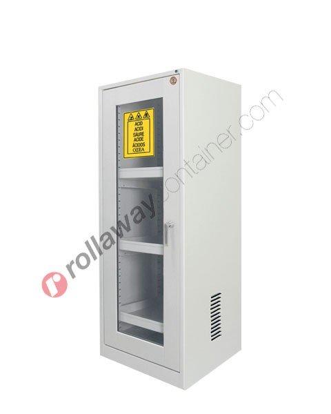 Armadio per prodotti chimici non infiammabili con anta a vetro 600 x 600 H 1600 mm Top Line