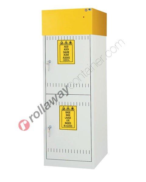Armadio per prodotti chimici non infiammabili con 2 ante cieche e aspiratore 600 x 600 H 1900 mm Top Line