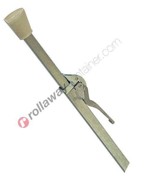 Barra o palo fermacarico quadrata telescopica in acciaio zincato da mt 1,88 a mt 2,86
