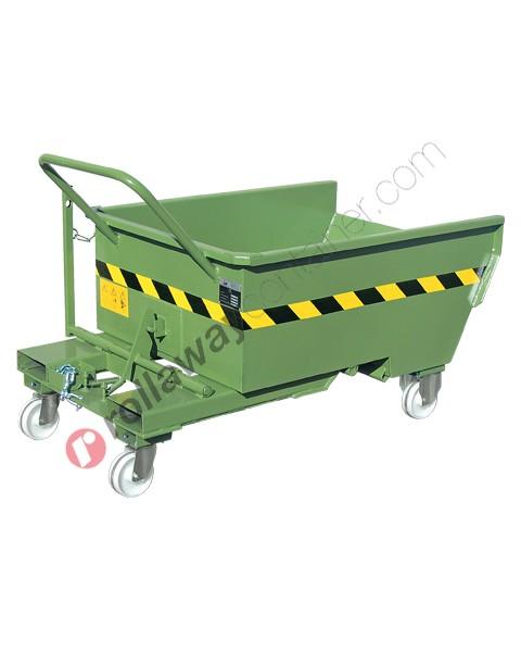 Benna ribaltabile per muletto con 4 ruote portata 600 kg