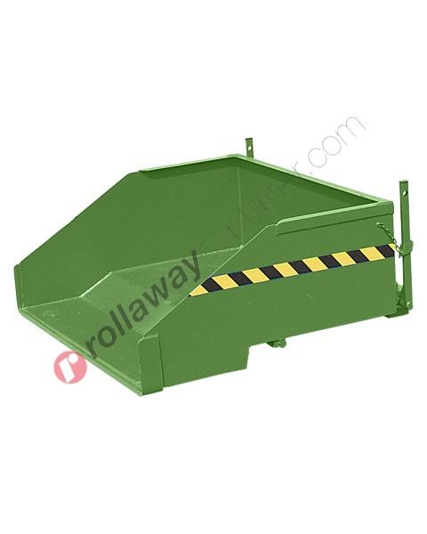 Benna ribaltabile per muletto caricamento a terra portata 1000 kg