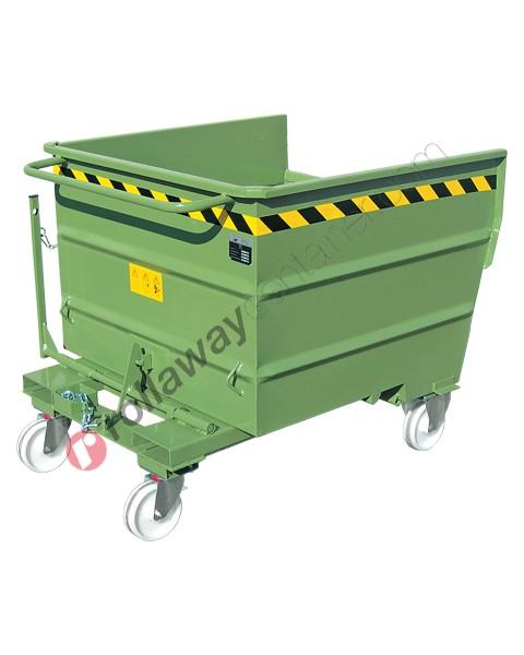 Benna ribaltabile per muletto con 4 ruote portata 1000-1350-1700 kg