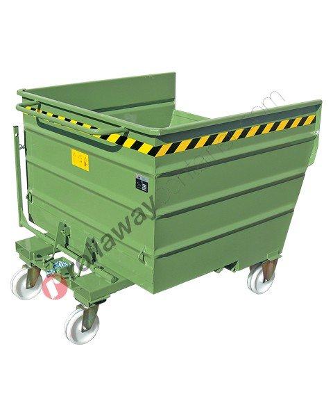 Benna ribaltabile per muletto con 4 ruote portata 2000 kg