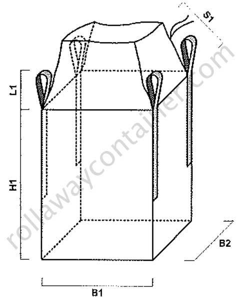 Big bag con apertura a caramella e fondo chiuso
