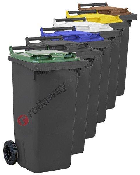 Bidoni raccolta differenziata spazzatura e immondizia da 120 litri con 2 ruote