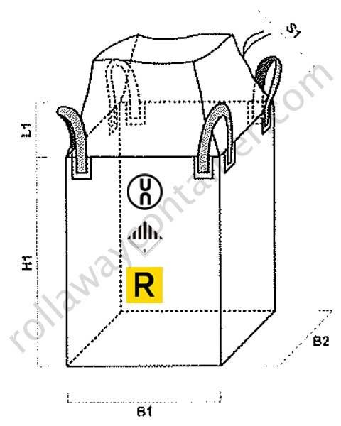 Big bag omologati ADR ONU con apertura a caramella e fondo chiuso