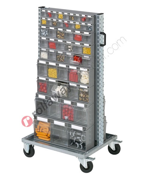 Carrello Smart 07354 con cassettiere portaminuteria 106 cassetti totali