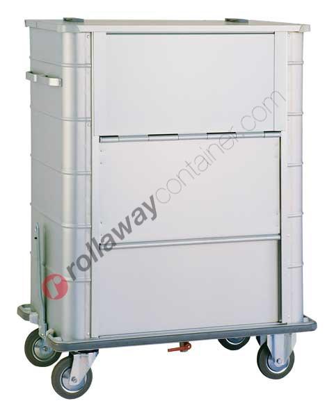 Carrello portabiancheria sporca in alluminio 1100 x 650 H 1425
