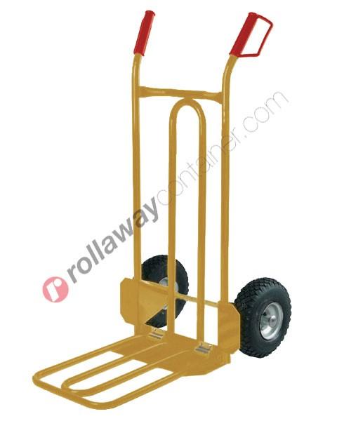 Carrello portapacchi maxi volume ruote piene portata kg 250 Bulldog