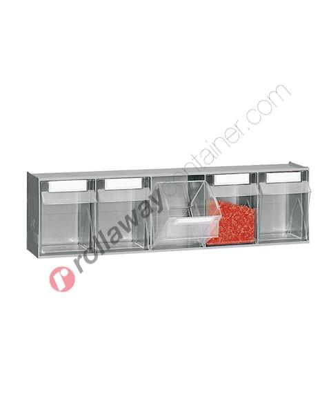 Cassettiera portaminuteria mm 600 x 141 x 164 h 5 cassetti