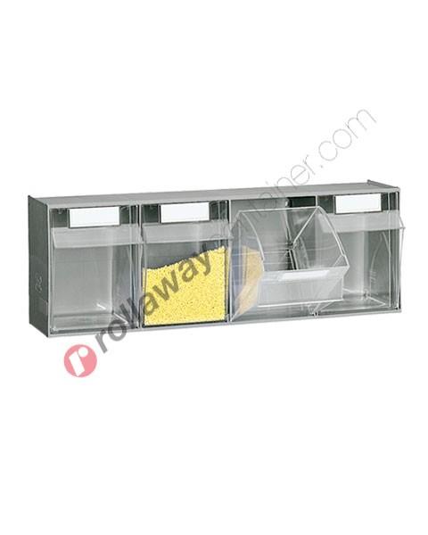 Cassettiera portaminuteria mm 600 x 174 H 206 con 4 cassetti