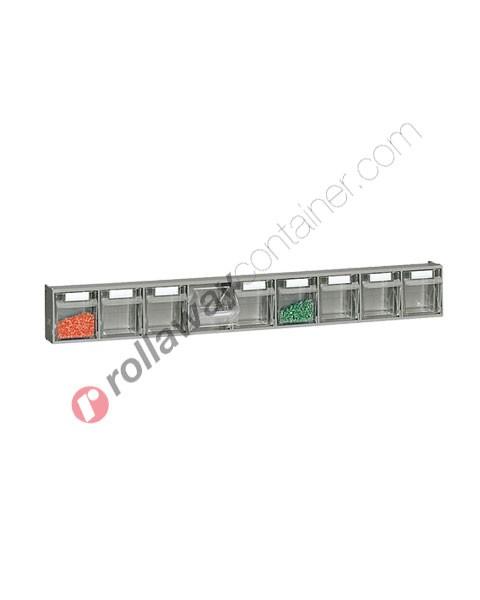 Cassettiera portaminuteria mm 600 x 69 x 77 h 9 cassetti