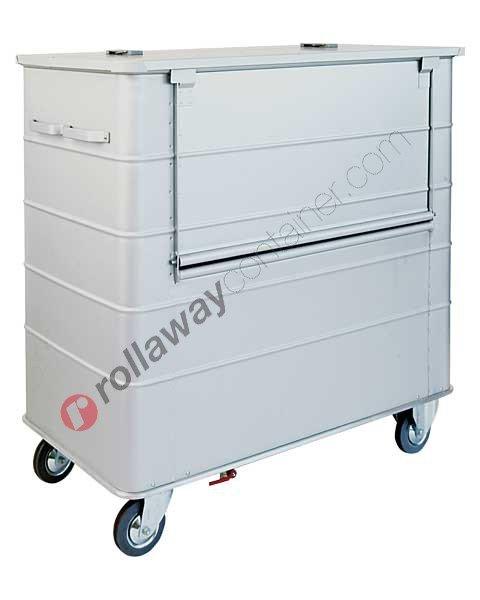 Carrello portabiancheria sporca in alluminio 1400 x 760 H 1340