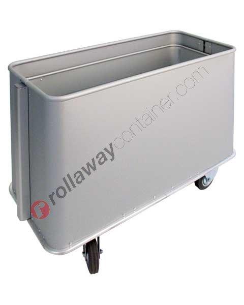 Carrello portabiancheria in alluminio fondo mobile